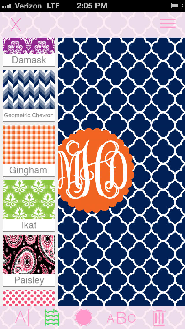 Marley Lilly Monogram Store Wallpaper Creator   Apple Store 640x1136