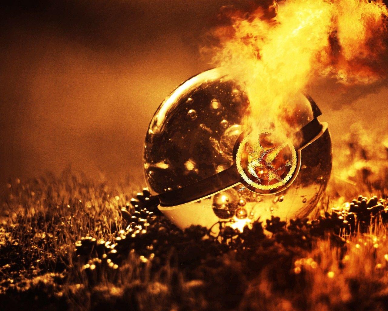 Pokemon Fire Balls 3D Art Change Games Entertainment Video 1280x1024