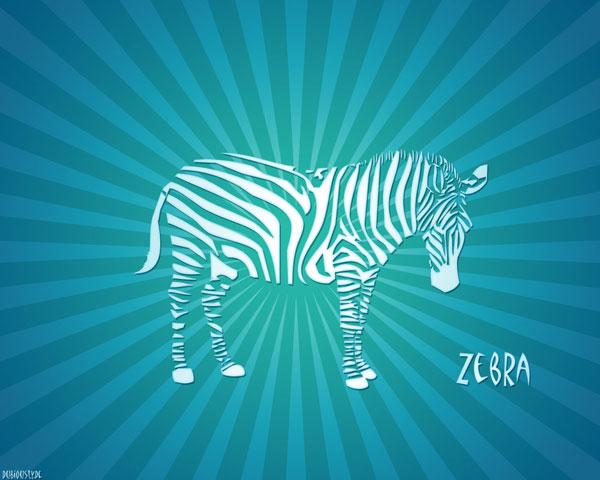 blue zebra wallpaper 600x480