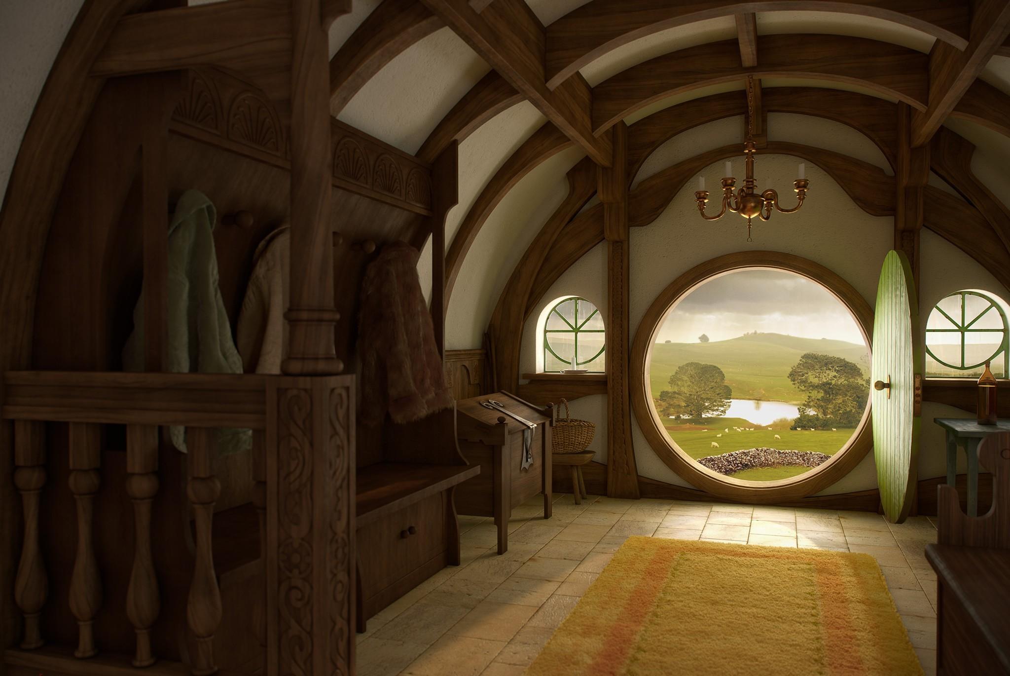 hobbit width hole home interior door wallpaper   ForWallpapercom 2048x1370