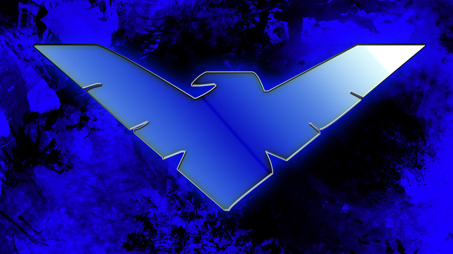 Nightwing Symbol Wallpaper Hd Nightwing wallpaper by 900x506