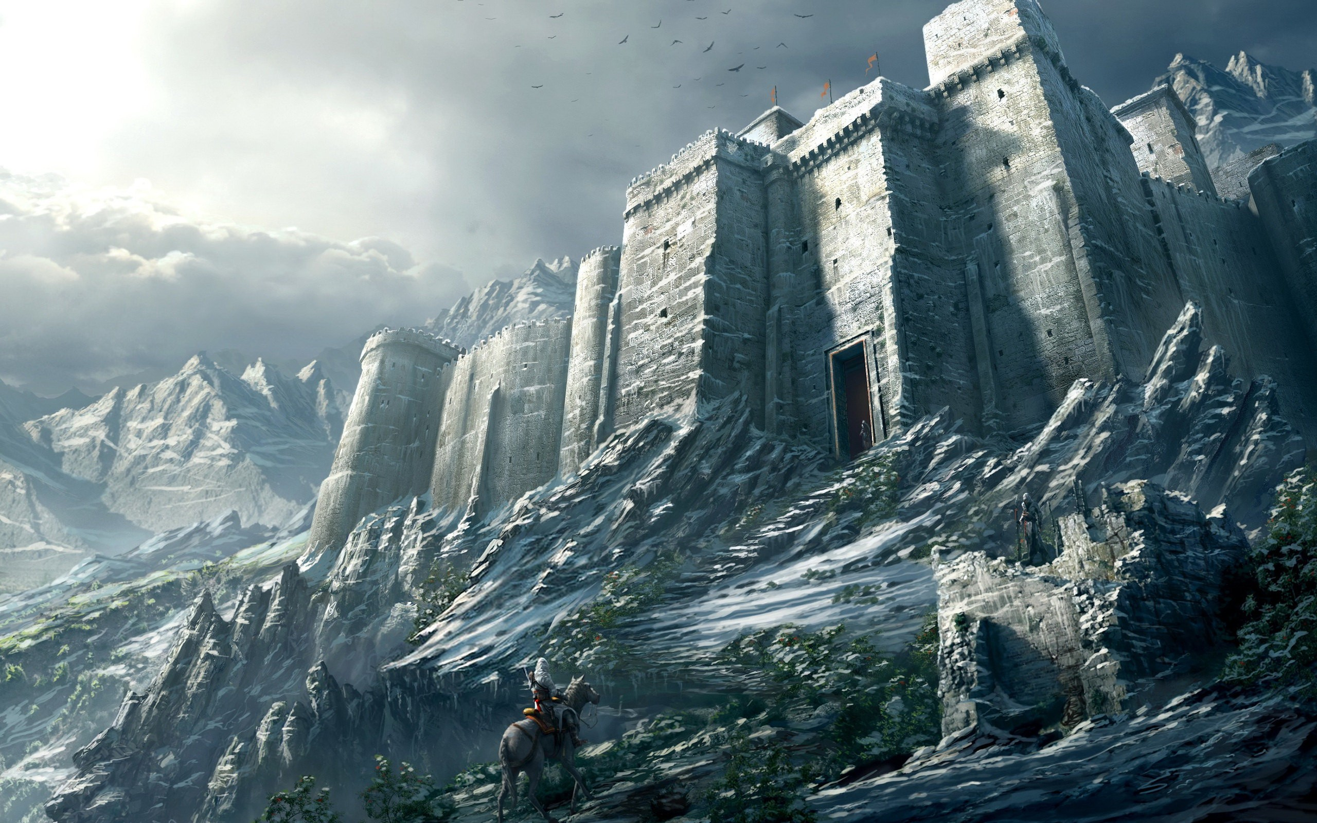 Castle mountains snow soldier wallpaper   ForWallpapercom 2560x1600