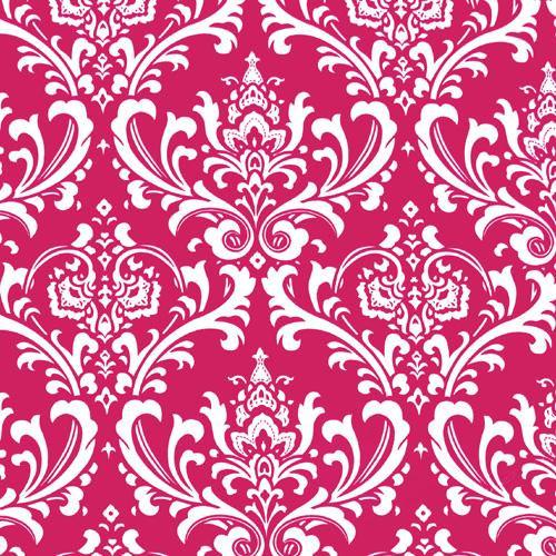 Damask Curtain Panels Fuchsia Hot Pink and White Damask Drapery Window 500x500