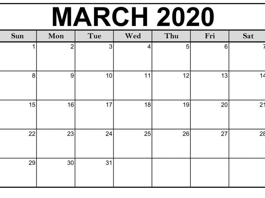 March 2020 Calendar Printable Desktop Wallpaper Printable Calendar 880x660