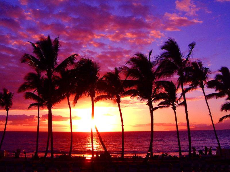 Hawaiian Sunset Background Awesome hawaii sunset