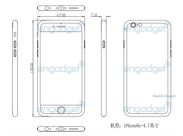 new image claimed to show the schematics of Apples upcoming iPhone 6s 635x475