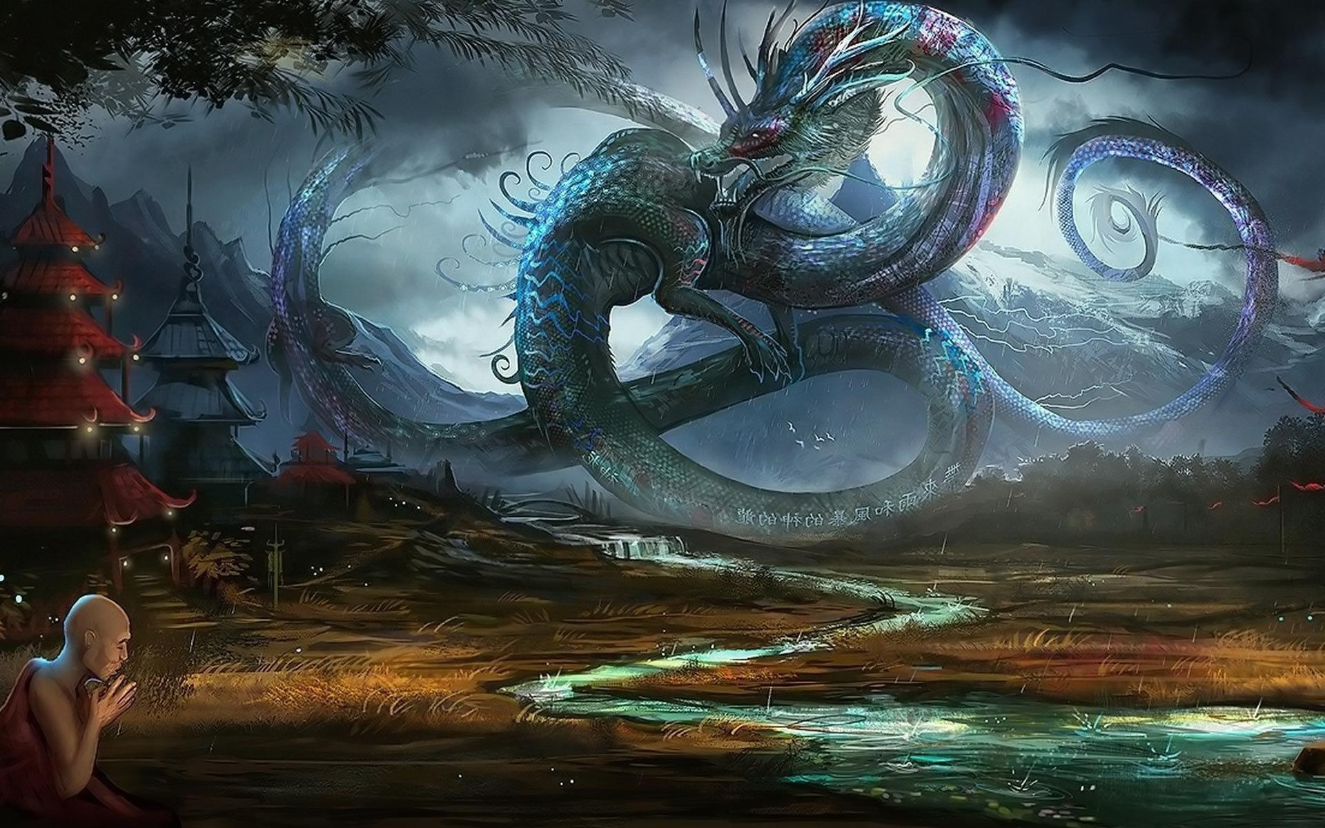 Dragon in ancient China wallpaper 844 1920x1200