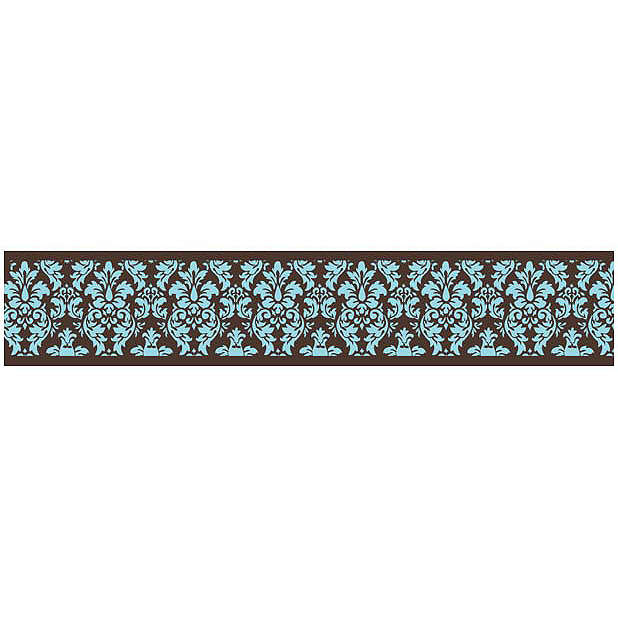 Discontinued Bella Turquoise Wallpaper Border 618x618