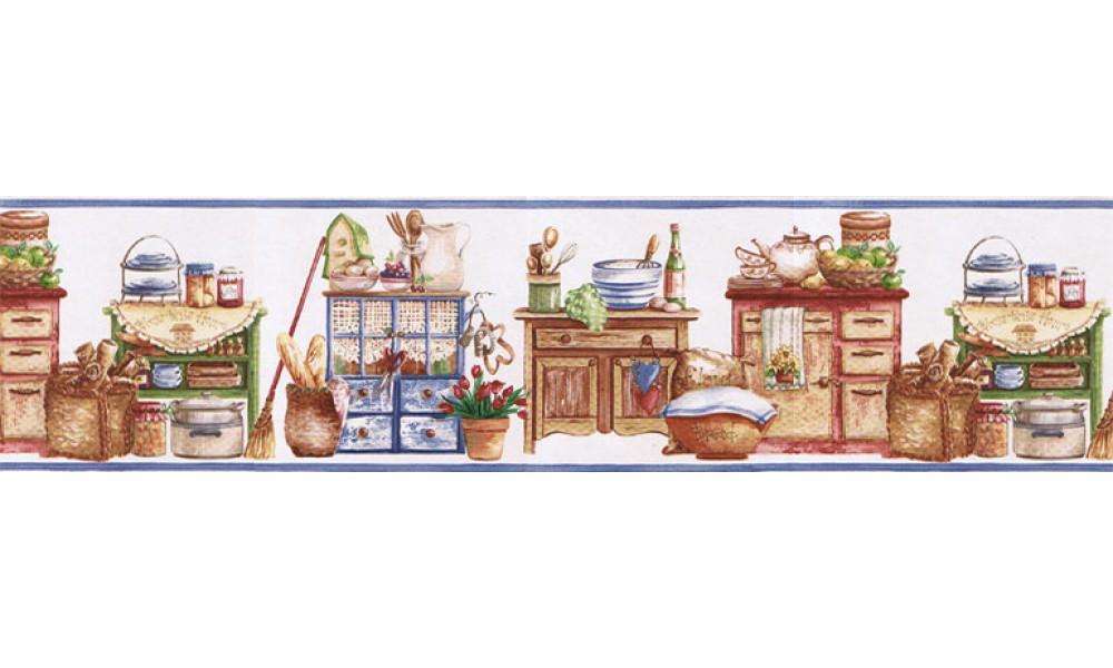 Home Kitchen Wallpaper Border SK74392 1000x600