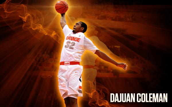 Syracuse College Basketball Dajuan Coleman Wallpaper on Behance 600x375