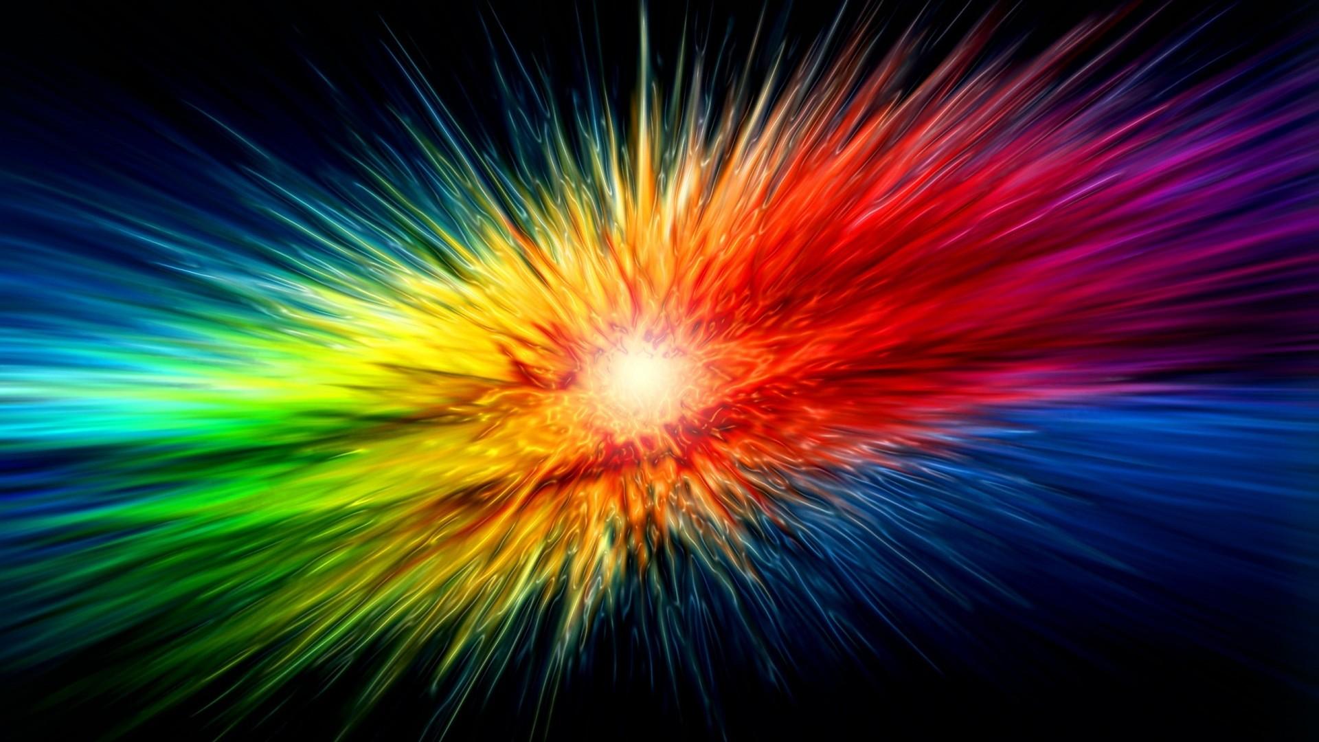 supernova rainbow explosion 1920x1080 hd wallpaper abstract 3d 1920x1080