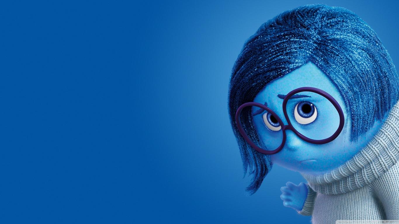 Inside Out Sadness   Disney Pixar 4K HD Desktop Wallpaper for 1366x768
