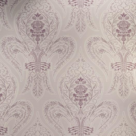 Modern Purple Damask Fabric Wallpaper Wallcovering Bedding Wall Paper 526x527