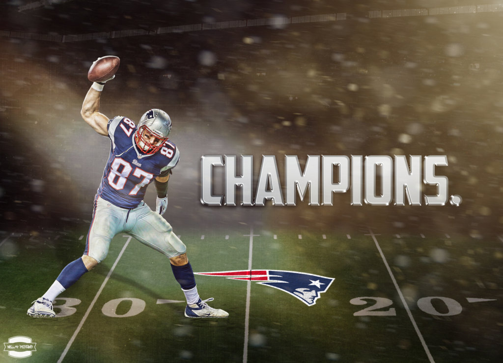 New England Patriots Champions Wallpaper by NewtDesigns on 1024x739