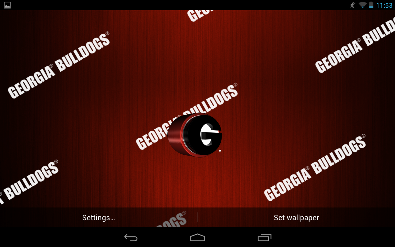 georgia bulldogs live wallpaper with animated 3d logo background 1280x800