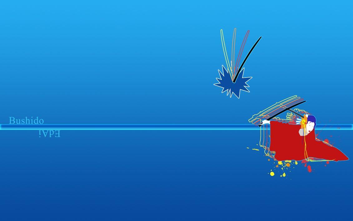 Bushido   Wallpaper   Blue by Ebrithil on deviantART 1131x707