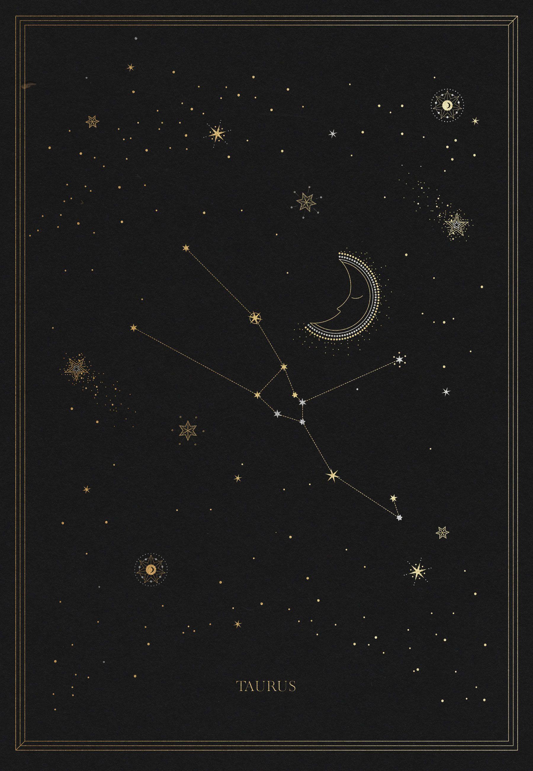 The Taurus Constellation Arte tauro Constelacion tauro y 1800x2600