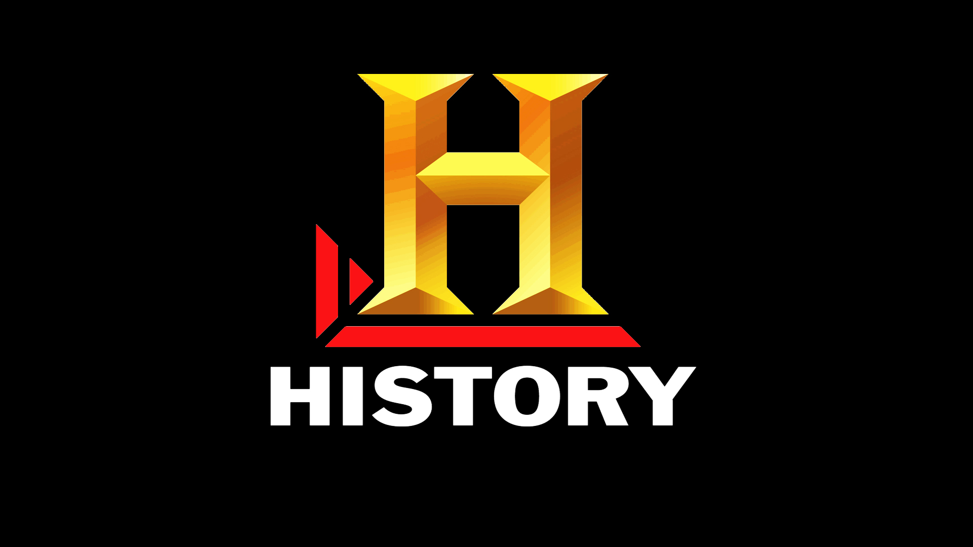 The History Channel Black logo wallpaper background 1920x1080