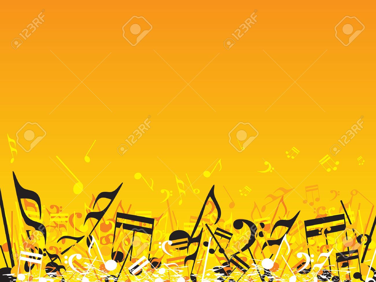 Vector Illustration Of Beautifull Musical Notes Background Enjoy 1300x975