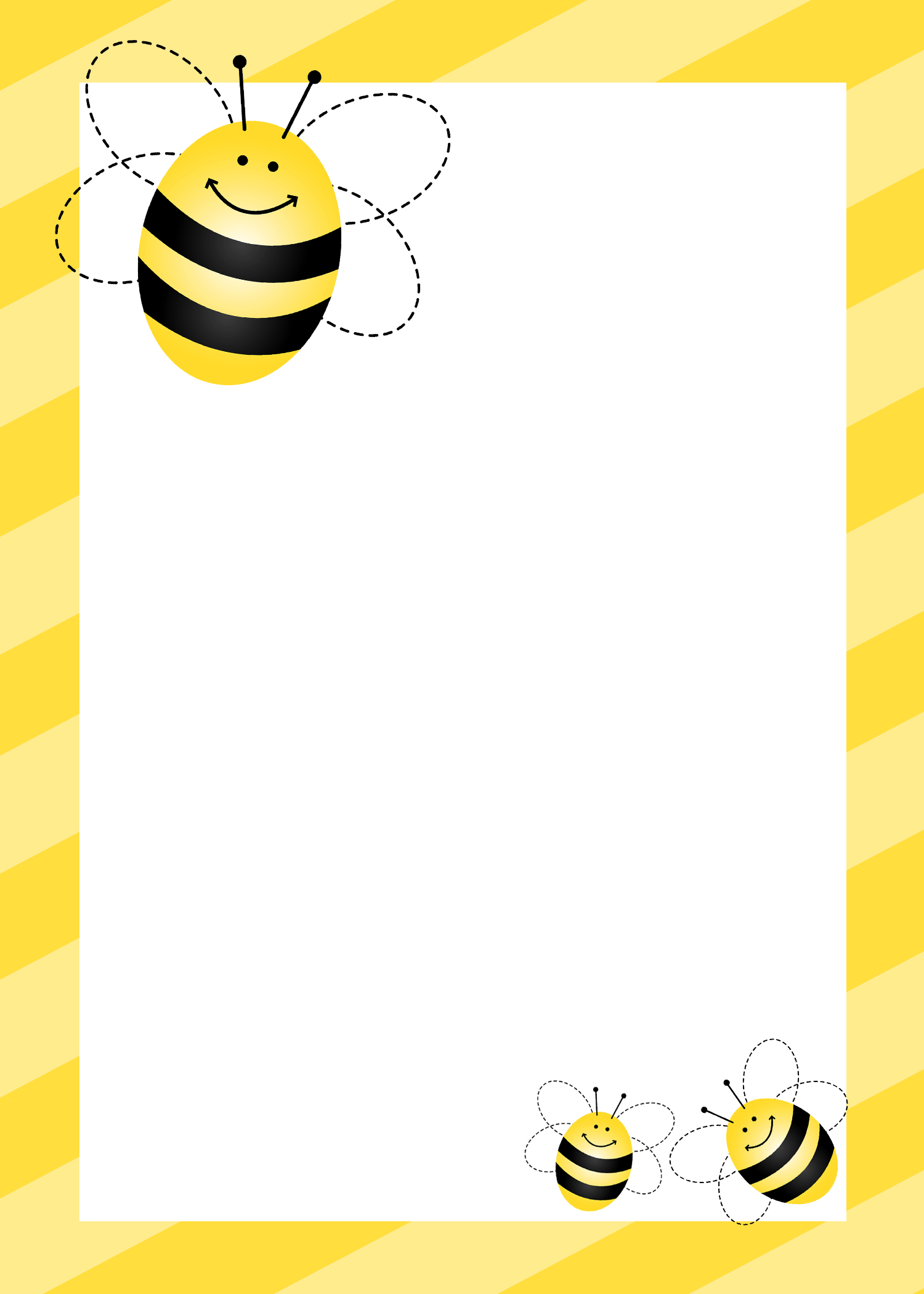 Honey Bee Clip Art Borders Images crazygalleryinfo 1500x2100