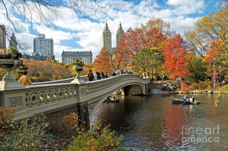 Central Park Autumn Cityscape by Allan Einhorn 900x598