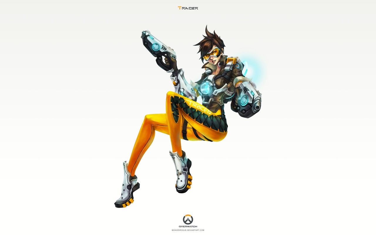 Tracer Overwatch Art 4K Wallpapers HD Wallpapers 1280x800