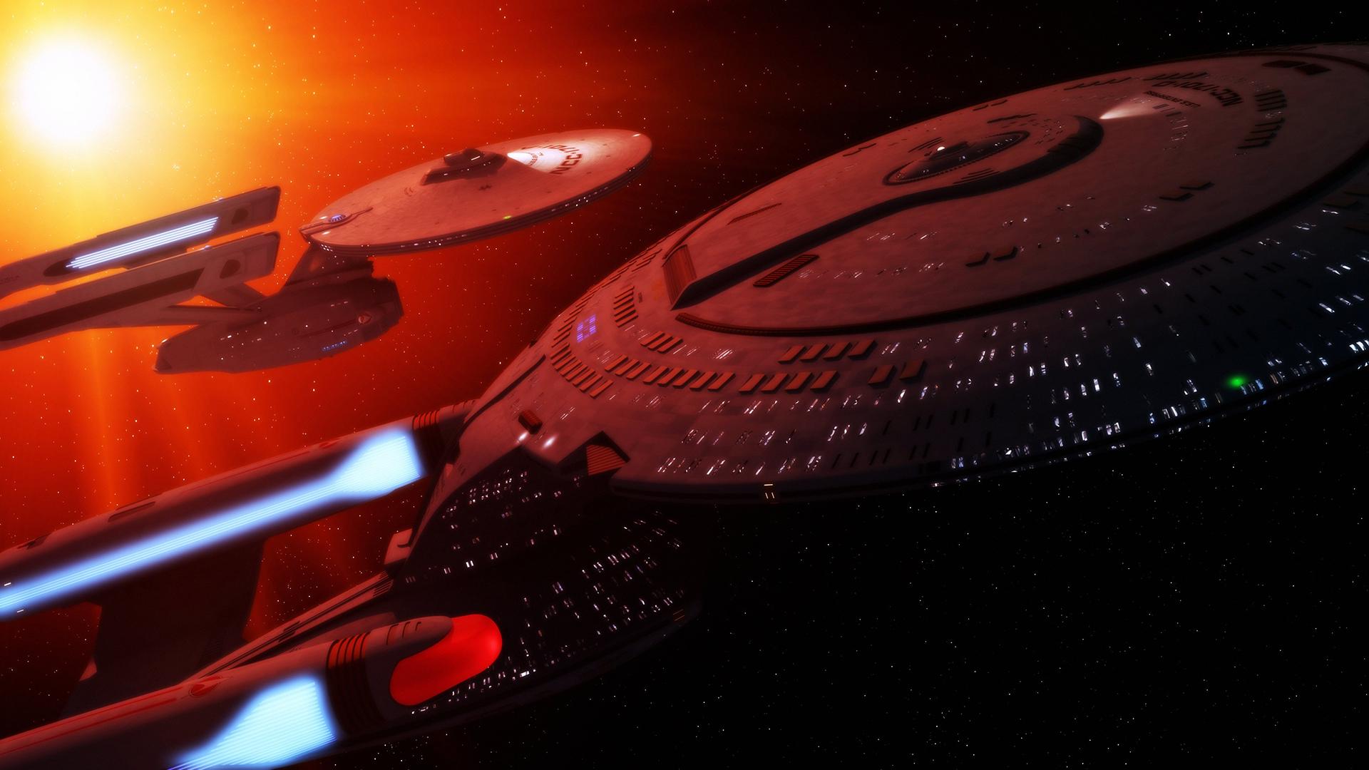 Starship Enterprise Spaceship Starlight space movies sci fi wallpaper 1920x1080
