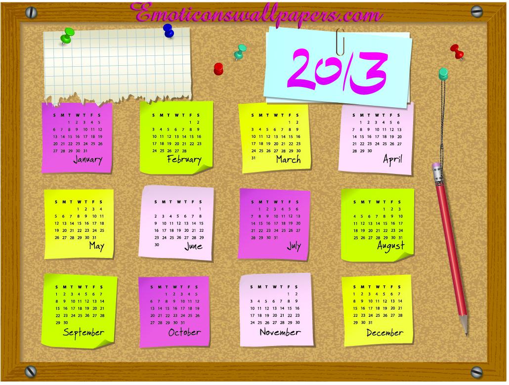 Calendar 2013 Wallpapers 2 Wallpapers Desktop Wallpapers 1030x779