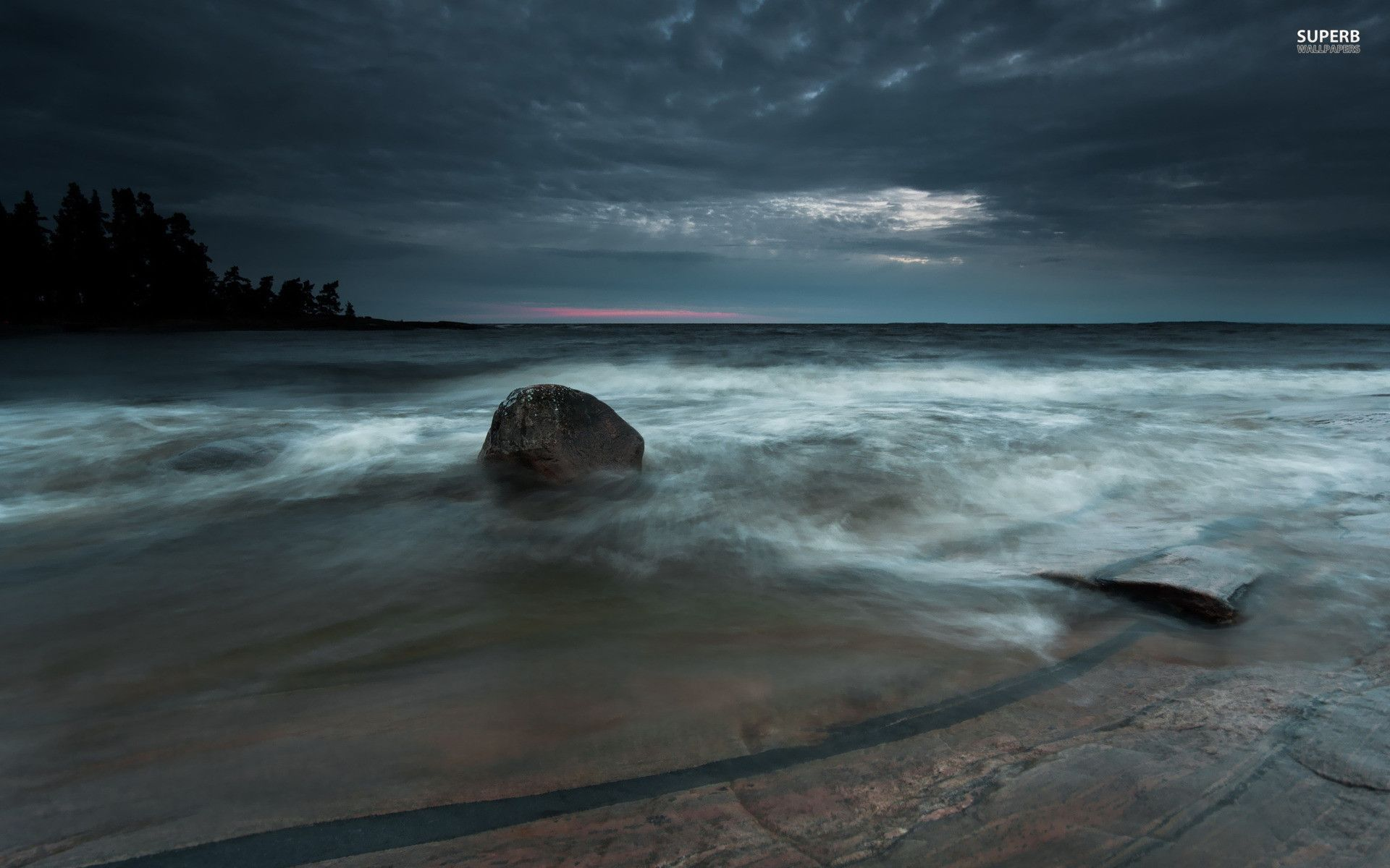 Stormy Beach Scene Photograph by Roger Burton