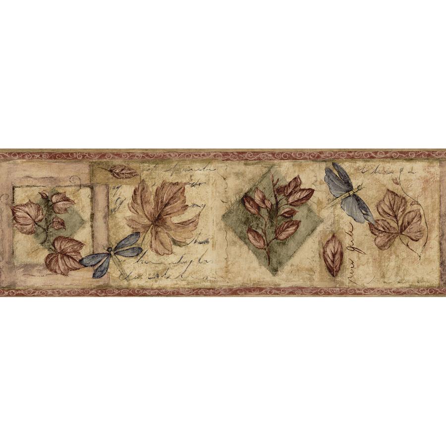Burgundy Textured Leaf Prepasted Wallpaper Border at Lowescom 900x900