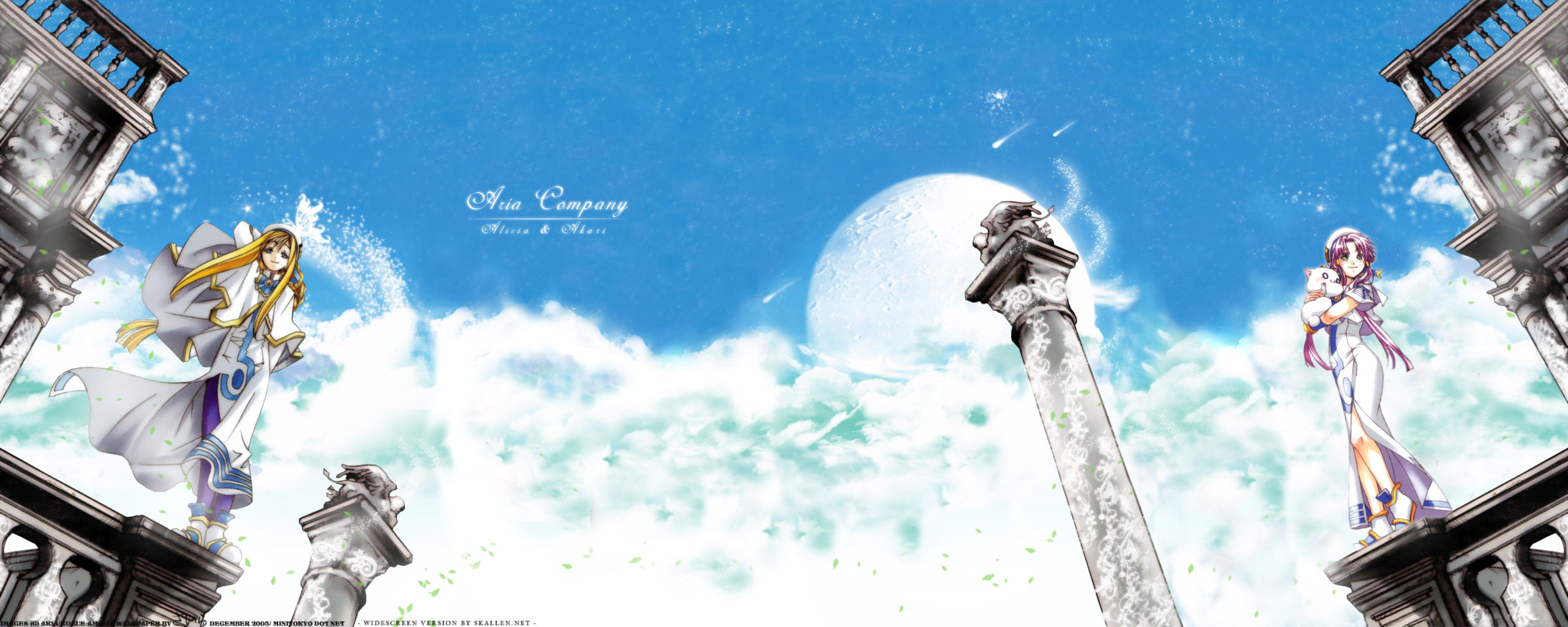 Dual Monitor Backgrounds Dual Screen Wallpaper Anime Aria Company 2560x1024