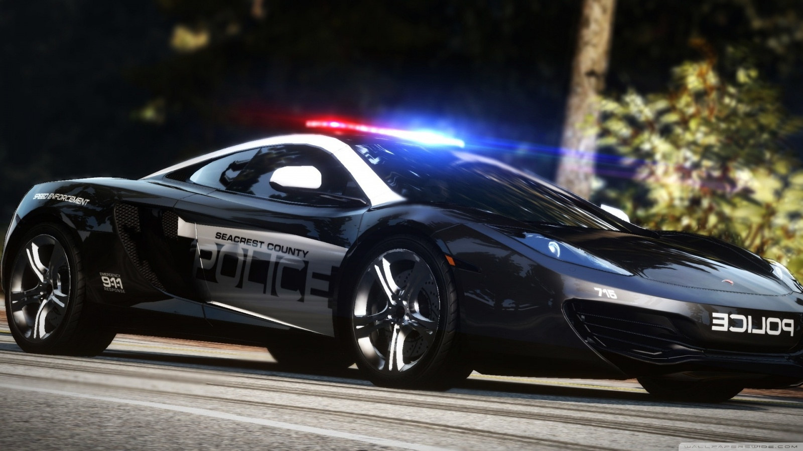 Police Cars HD Wallpapers Backgrounds 1600x900