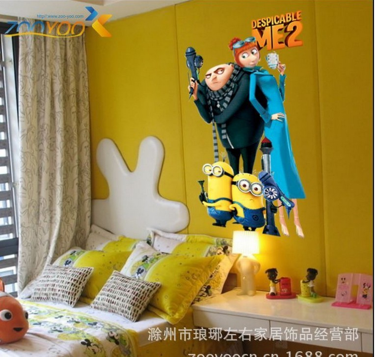 despicable me 2 posters anime wallpaper murals children wall stickers 764x726