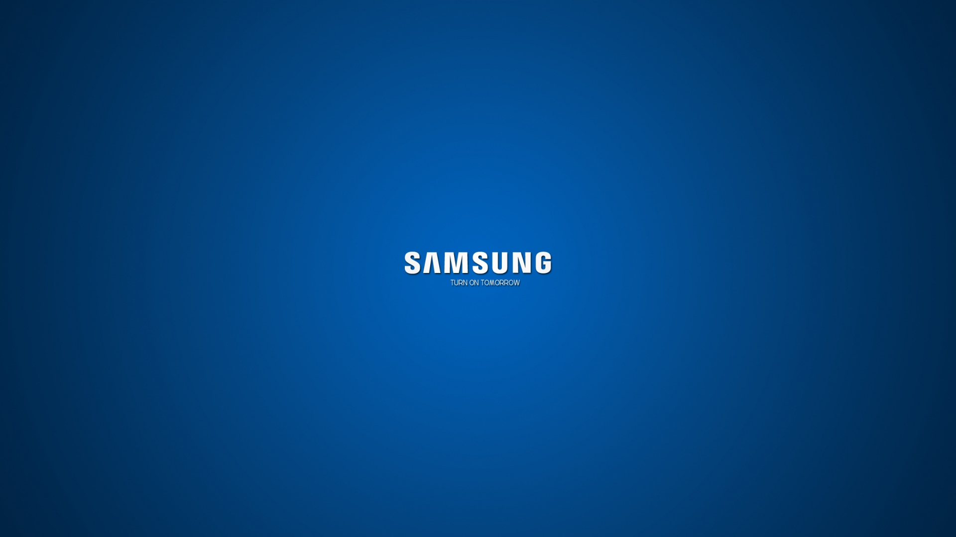 Wallpaper 1920x1080 Samsung Company Logo Blue White Full HD 1080p 1920x1080