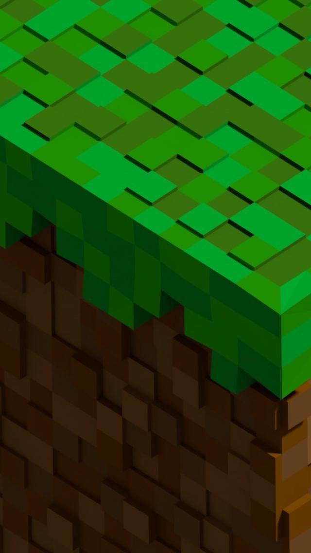 Iphone Wallpapers Minecraft Minecraft Block 2 Wallpaper 640x1136