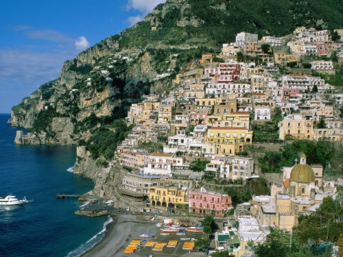 free italy amalfi coast campania screensaver screensavers download 500x375