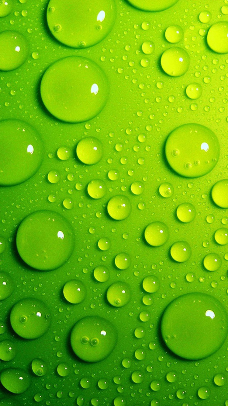 Wallpaper iphone green - Green Water Drops Iphone 6 Wallpapers Hd Iphone 6 Wallpaper