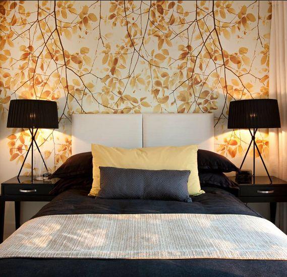 Natural feel wallpaper yellow tone Architecture Interior decor 569x549