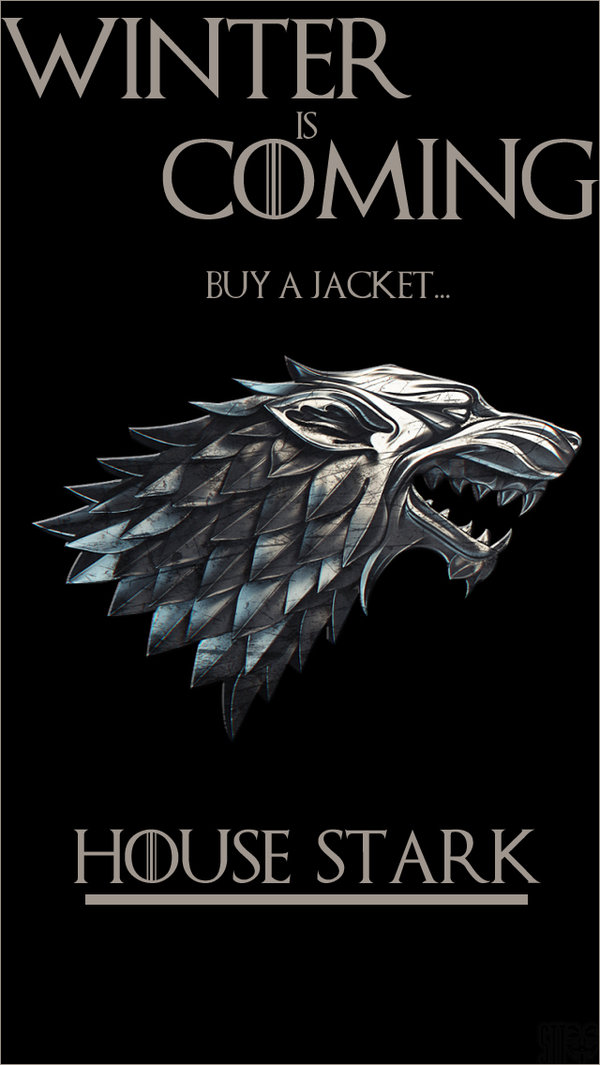 House Stark Game of Thrones IPhone Wallpaper by SttvUK 600x1065