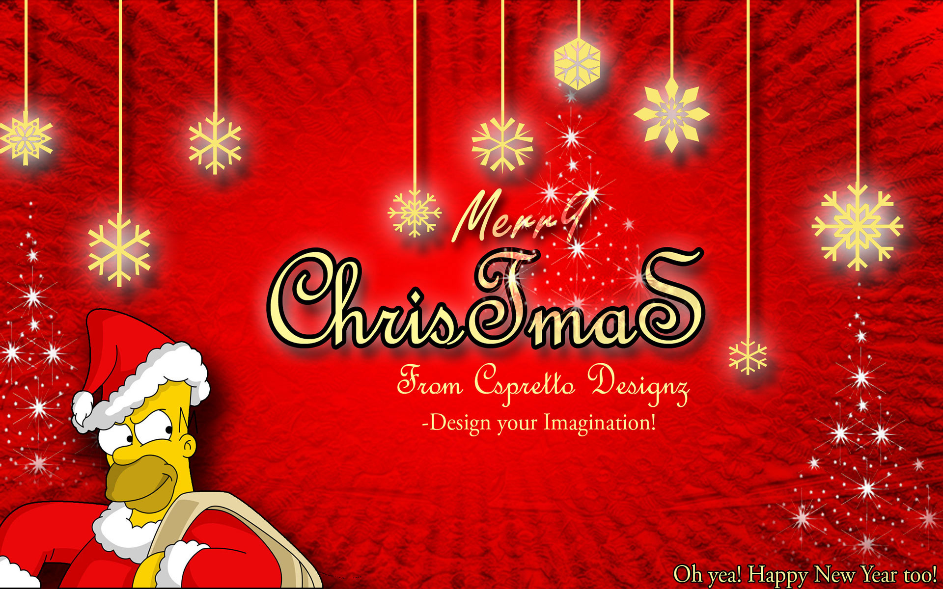 ... Wallpapers - Homer Simpson Merry Christmas 1920x1200 wallpaper