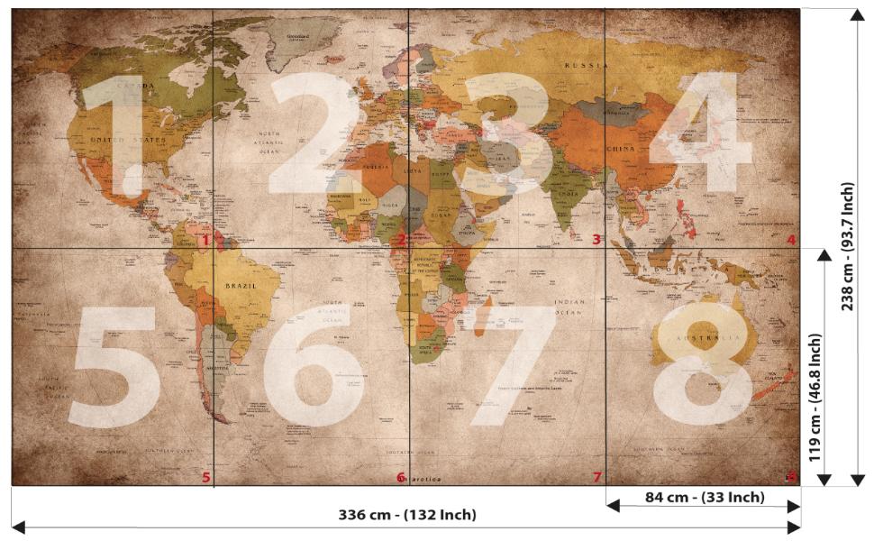 Amazoncom GREAT ART Wallpaper Retro World Map   Vintage Wall 970x600