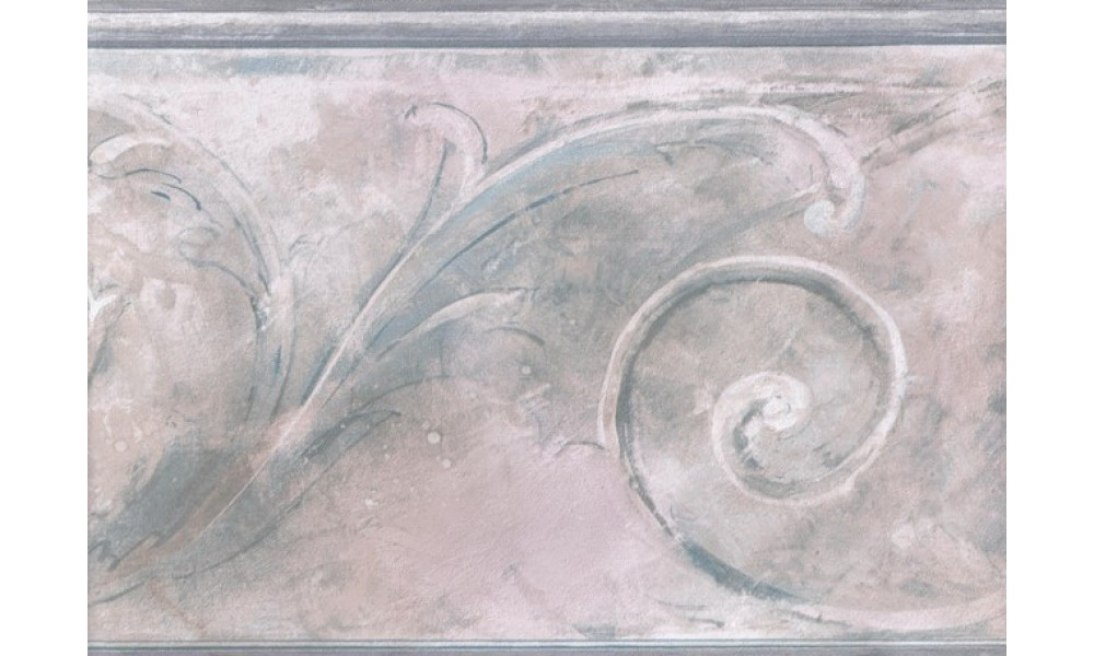 Home Blue Pink White Stone Swirl Molding Wallpaper Border 1000x600