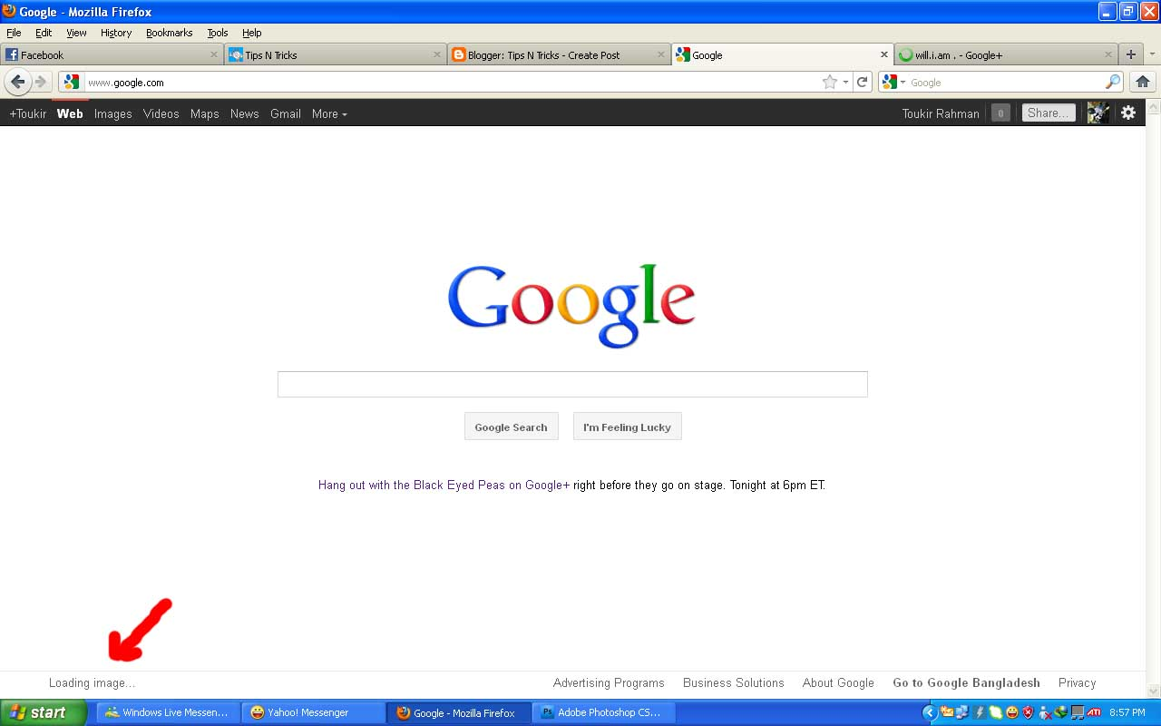 How to change google search background 1280x800