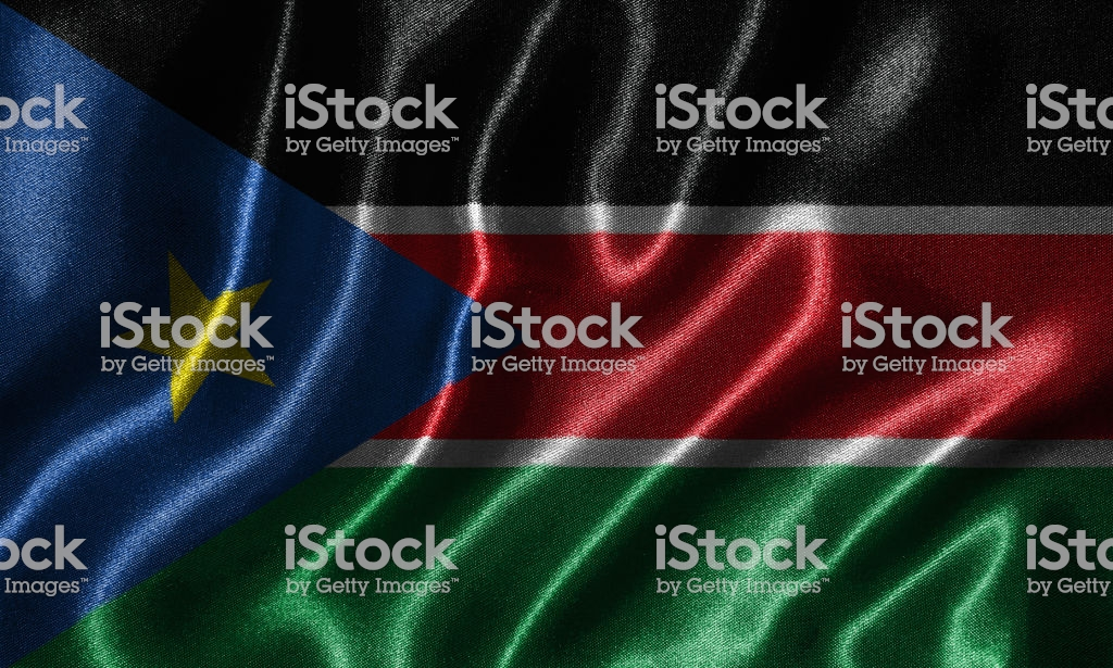 Wallpaper By South Sudan Flag And Waving Flag By Fabric Stock 1024x615