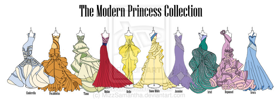 Modern Disney Princess Collection by MizzSamantha 900x321
