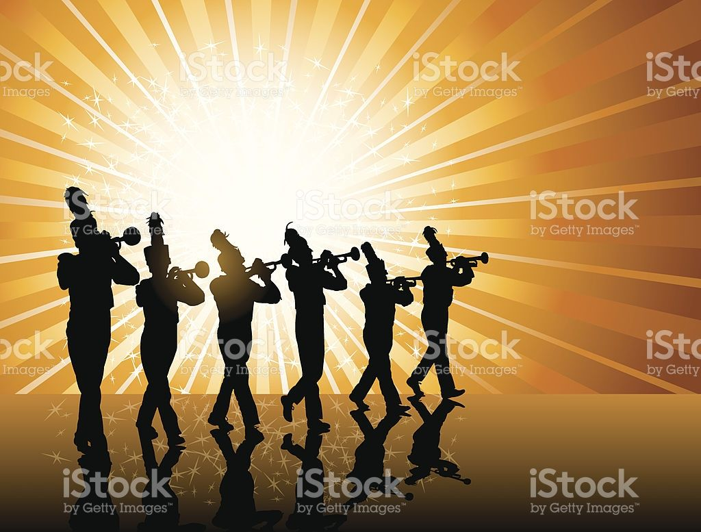 Trumpet Player Background Tight graphic silhouette background 1024x777