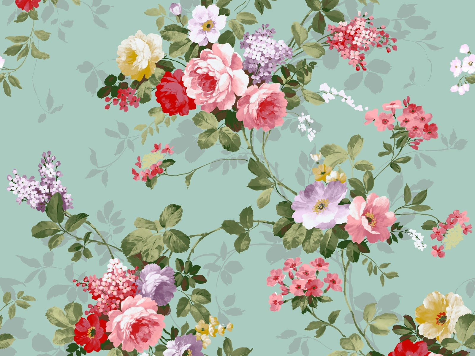 Download 15 Floral Vintage Wallpapers 1600x1200