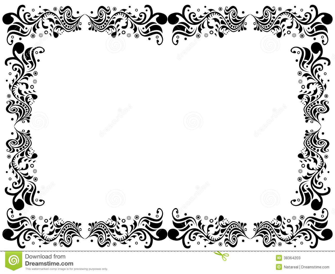 Black And White Floral Border Wallpapers The Art Mad Wallpapers 1300x1065