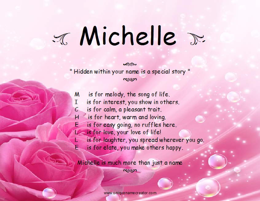 Michelle Name Wallpaper   Flowers In Pink Colour Wallpaper 846x653