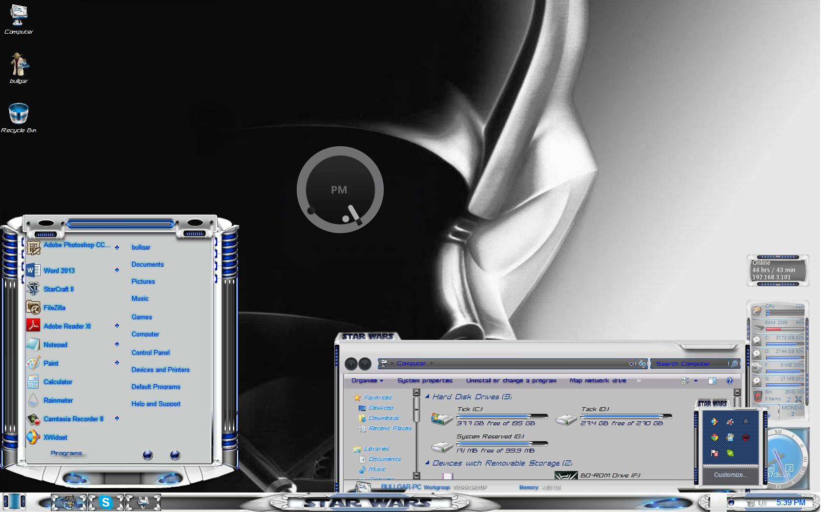 Star Wars Custom Windows 7 Theme Top windows 7 themes 1688x1050